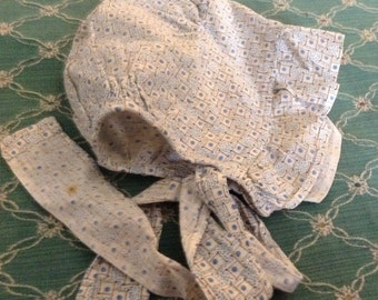 Very Vintage Doll Sun Bonnet
