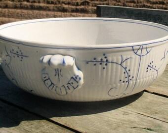 Vintage Boch Copenhagen Kopenhagen Serving Bowl Marked Claw Handles Keramis