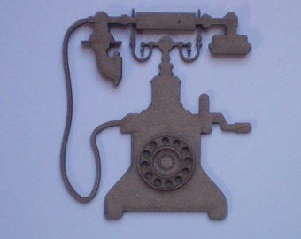 Chipboard Antique Phone
