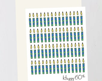 Birthday (60th) Greeting Card