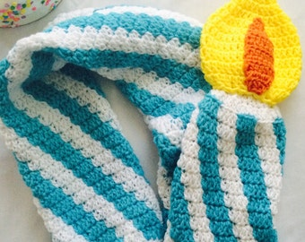 Birthday Candle Crochet Scarf