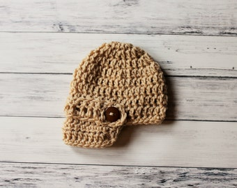 Crochet Baby Hat, Boy Newsboy Hat, Newborn Newsboy Hat, Crochet Newsboy Hat,Infant Boy Hat, Brimmed Baby Hat, Baby Shower Gift