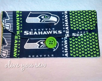 Travel Changing pad with pocket - Seahawks