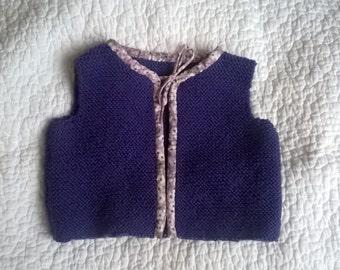 Shepherd's adorable little vest size 6 months purple and Liberty