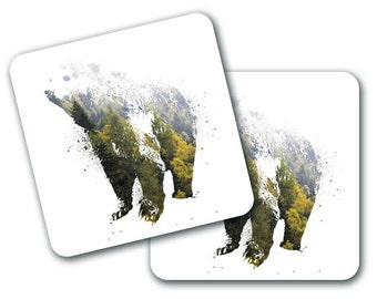 Nature Bear Design Coasters (Set of 4) (CO780)