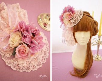 Figlia H118 Rose Dreaming Lace Headdress