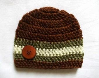 Crochet baby boy hat Wool newborn hat Newborn boy hat Crochet newborn hat Newborn boy outfit Baby boy beanie Baby boy gift Baby boy hat