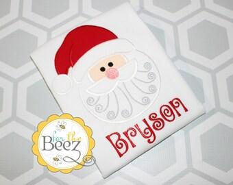 Santa Shirt, Christmas Shirt, Boys Christmas Shirt, Girls Santa Shirt, Holiday Shirt, Personalized Santa Shirt, 1st Christmas