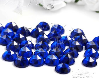 1pcs 6mm Lab Created Sapphire, Material Synthetic Blue Spinel, Round Shape, Rose Cut, Royal Blue Color, 6mm Lab Created Sapphire