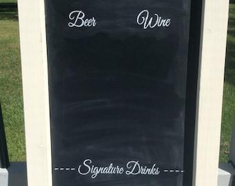 REDUCED PRICE, Bar Menu, Drink Menu, Bar Chalkboard, Wedding Chalkboard