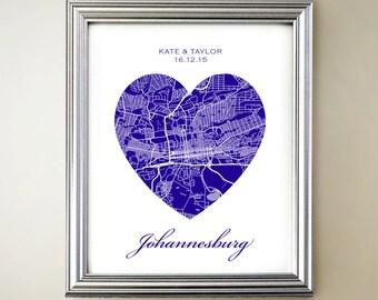 Johannesburg Heart Map