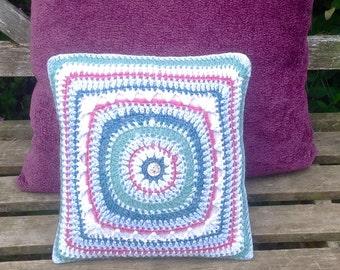 Small Crochet Cushion.Decorative Pillow.