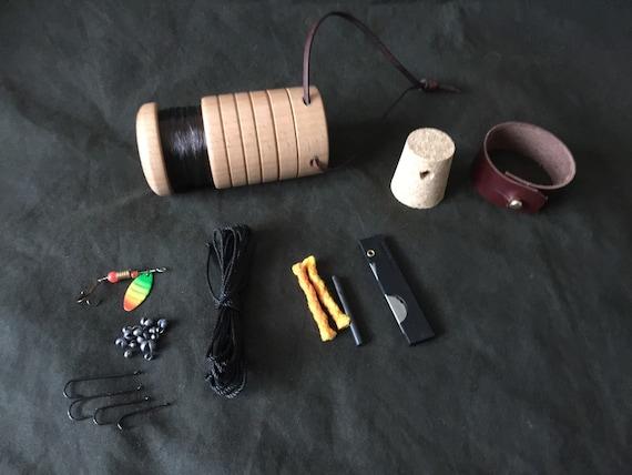 Bushcraft survival pocket fishing kit by philswoodturning for Pocket fishing kit