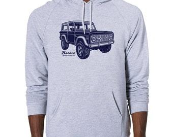 Classic Bronco printed on Men's American Apparel Pullover Hoodie
