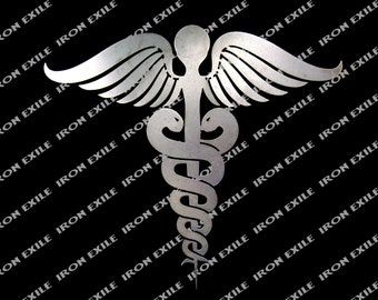 Caduceus Medical Emblem Metal Wall Art Sign Doctor Symbol Chirstmas Gift Idea