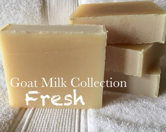 Fresh • Goat Milk Collection Handmade Soap • per bar