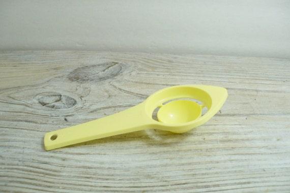Ekco Egg Separator Vintage Kitchen Utensil Yellow Plastic 1950s