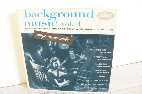 Songs We Remember Background Music Vintage 2 Record Set by Capitol Records Shine On Harvest Moon 1950s EBF 376 Volume 4