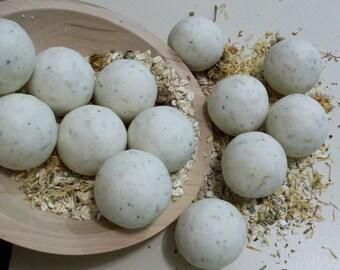 Herbal Tea Tree Goat Milk Oatmeal Soap Balls 7/3 oz each