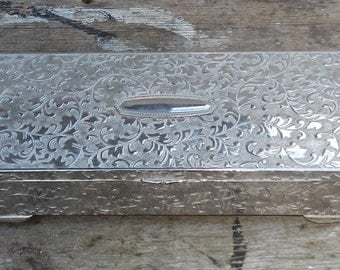 Beautiful Silverplate Jewelry Box!