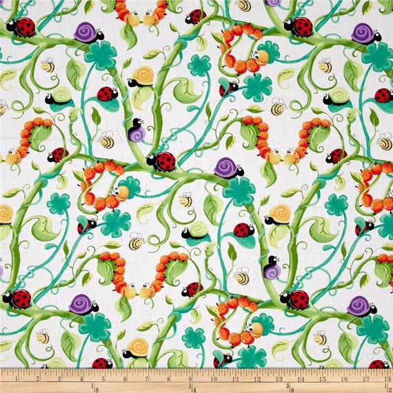 Items similar to world of suzybee leif the caterpillar for Children of the world fabric