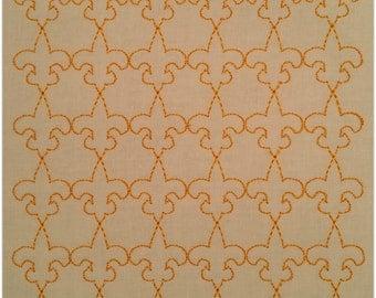 5x7 Fleur de lis Stipple Machine Embroidery Design INSTANT DOWNLOAD