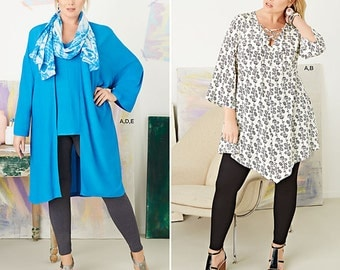 Simplicity Sewing Pattern 8097 Plus Size Tunic, Top, Kimono and Knit Leggings