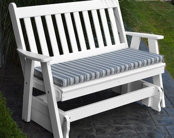 Recycled Plastic Traditional English 4ft. Porch Glider