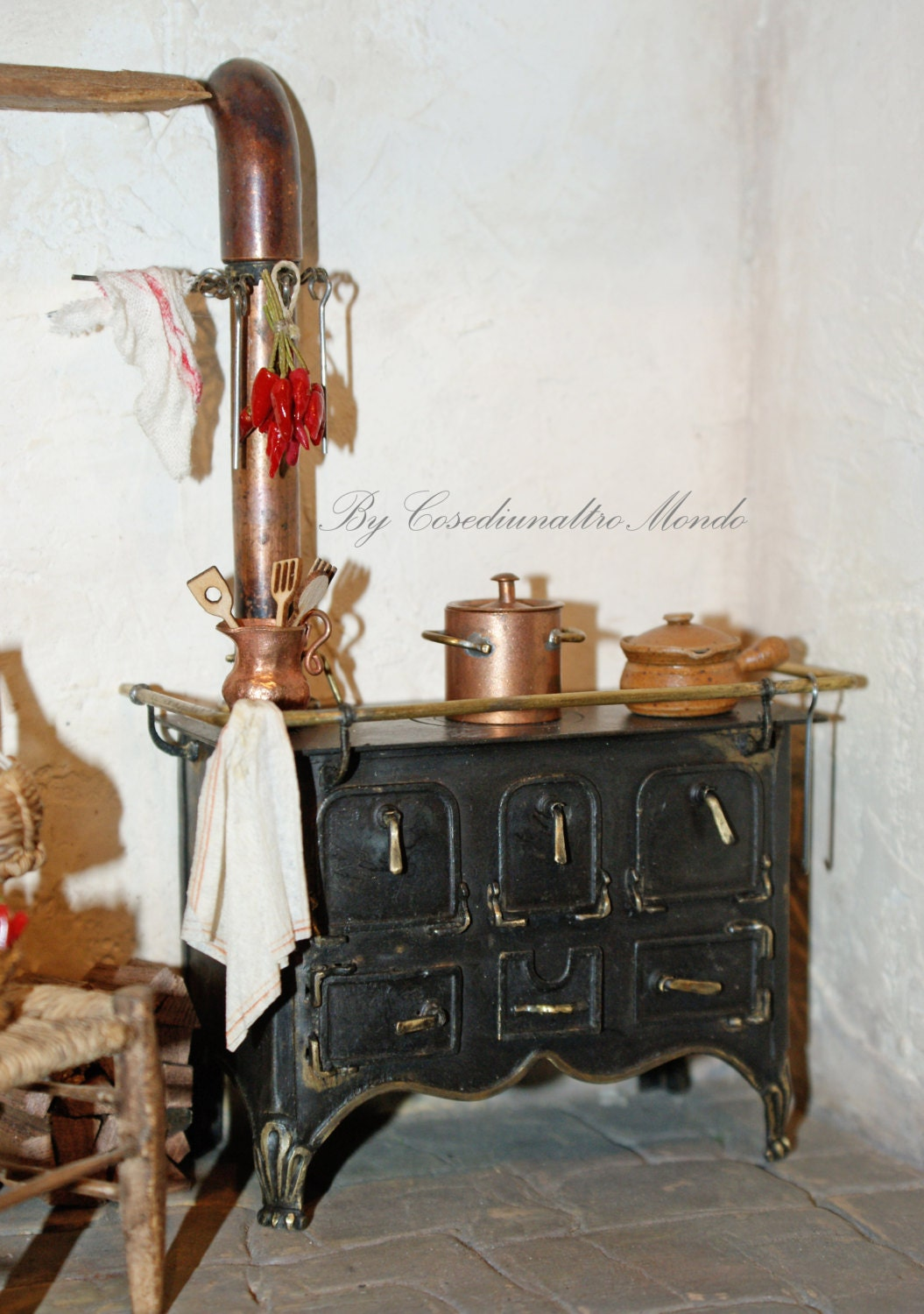 stove in the italian style hand made by cosediunaltromondo on etsy. Black Bedroom Furniture Sets. Home Design Ideas