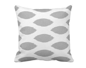 SALE | 50% OFF: 18x18 Pillow Cover Gray Pillow Cover Grey Pillows Gray Throw Pillow Cover Gray Ikat Pillows Grey Cushions Gray Pillowcase