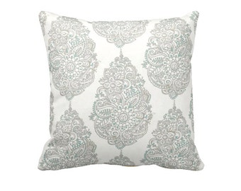 Taupe Throw Pillow Cover Taupe Pillow Cover Blue Pillows  Damask Pillows Decorative Pillows for Couch Taupe Accent Pillows Toss Pillows