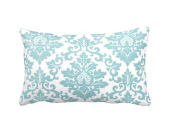 Blue Throw Pillow Cover Light Blue Pillow Cover Blue Damask Pillow Blue Lumbar Pillow Cover Decorative Pillows for Couch Pillows Shabby Chic