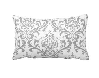 Grey Throw Pillow Cover Grey Pillow Cover Gray Pillow Cover Decorative Pillows Grey Lumbar Pillow Covers Grey Damask Pillows Grey Pillowcase