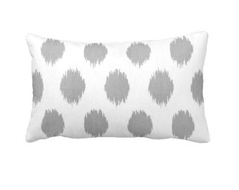 7 Sizes Available: Grey Throw Pillow Cover Grey Ikat Pillow Cover Decorative Pillow Gray Throw Pillow Cover Gray Pillow Cover Grey Pillow