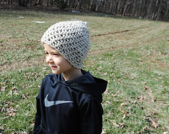 Child Crochet Hat in Beige