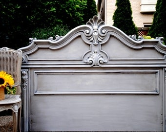 SOLD!!-French Country Queen size headboard- Refinished!!