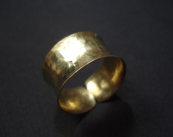 Anticlastic Hammered Bronze Cuff Contemporary Brass Band Modern Ring Metalwork Adjustable Cuff Statement Handmade Bronze Ring