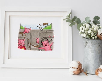 Funny Pigs Nursery Decor