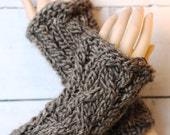 Sassenach inspired medieval arm warmers, wristers, Celtic cable mitts texting gloves luxury yarn merino + alpaca READY to SHIP!