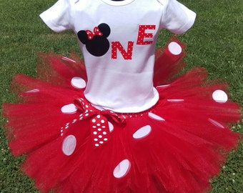 First Birthday Minnie Mouse Tutu Outfit