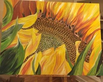 Acrylic painting Sunflower