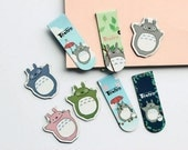 Set of 2 Totoro Magnet Clips, Paper Clip, Refrigerator Clip, Bookmark
