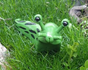 Slug, Spotted Banana Slug, Polymer Clay Slug, Polymer Clay Sculpture, Figurine, Bug