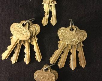 12 Vintage Russwin Keys