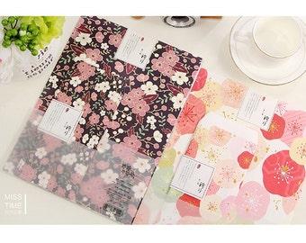 Beautiful Oriental Cherry Blossom Sakura Print Letter Writing Kit With Envelopes