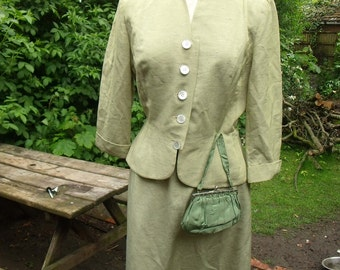 Rare WW2 1940's Weathervane Suit, Matching Hat + Bag