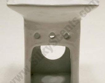 Square White Ceramic Oil Warmer