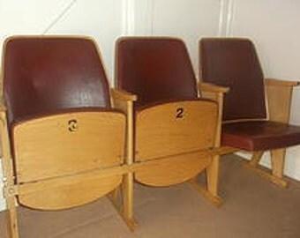 Vintage Theatre / Cinema seats, block of three