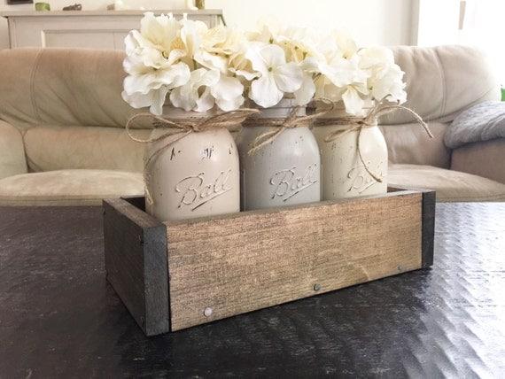 Mason Jar Planter Box Mason Jar Home Decor By