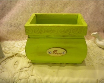 "Shabby Chic / French Country ""Catch-All"" Wood Box"